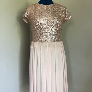 Marina Pink Sequin Dress, 10